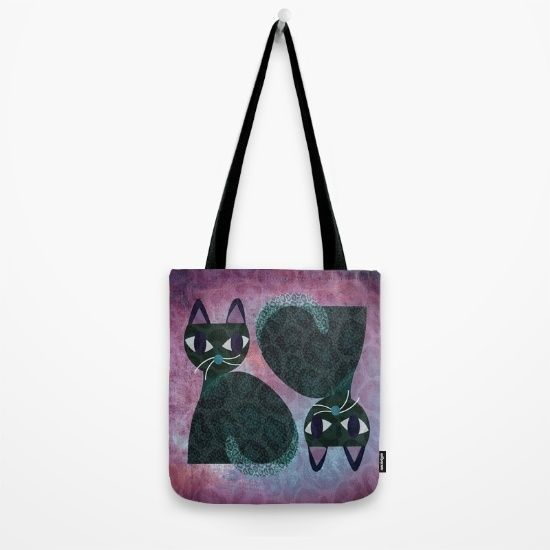 Two Cats Tote Bag by Mirimo. Worldwide shipping available at Society6.com. Just one of millions of high quality products available.