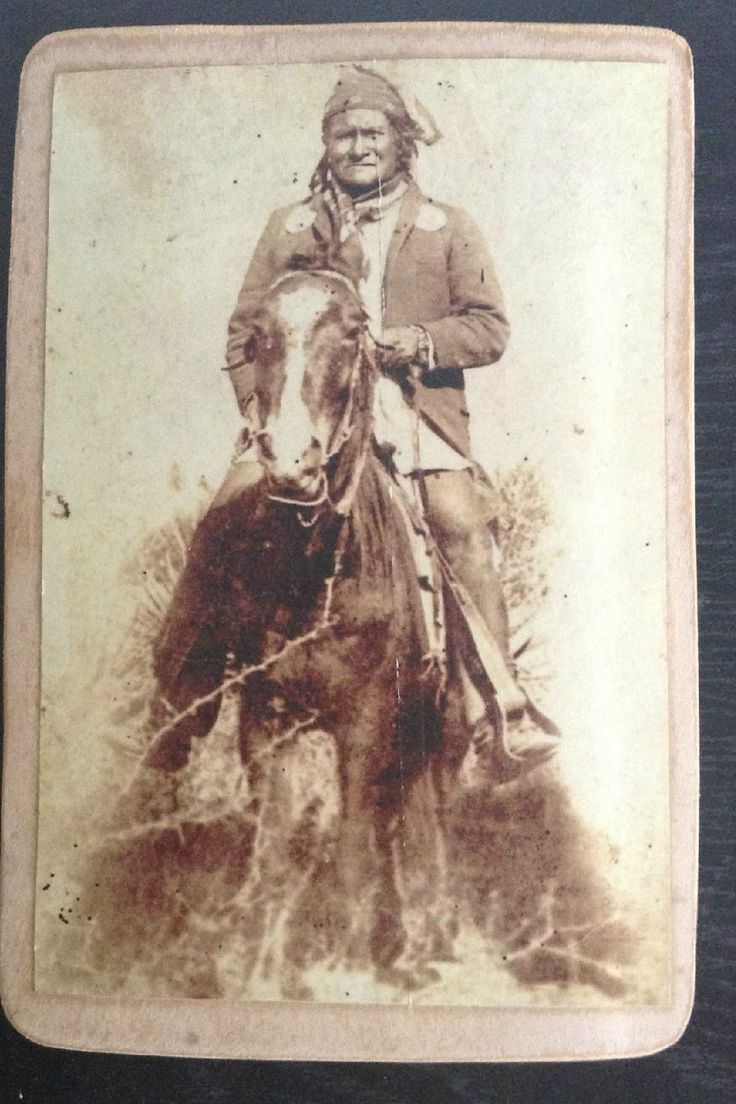 Vintage Old Copy of Geronimo on Horse