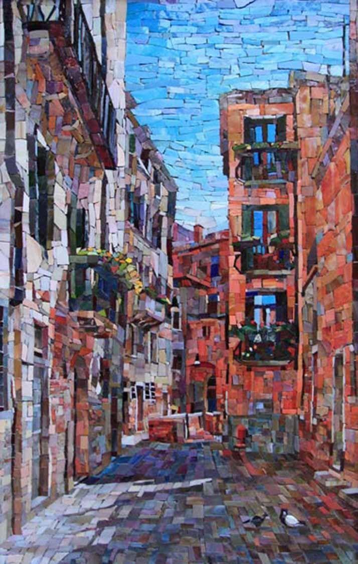 Мозаичная картина Итальянский дворик