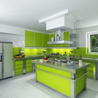 Love Love Love This Lime Green Kitchen