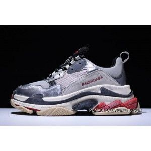 ef408b84ade8 Ssense X Balenciaga Triple-S Sneaker Grey Metallic Silver-Red New Style