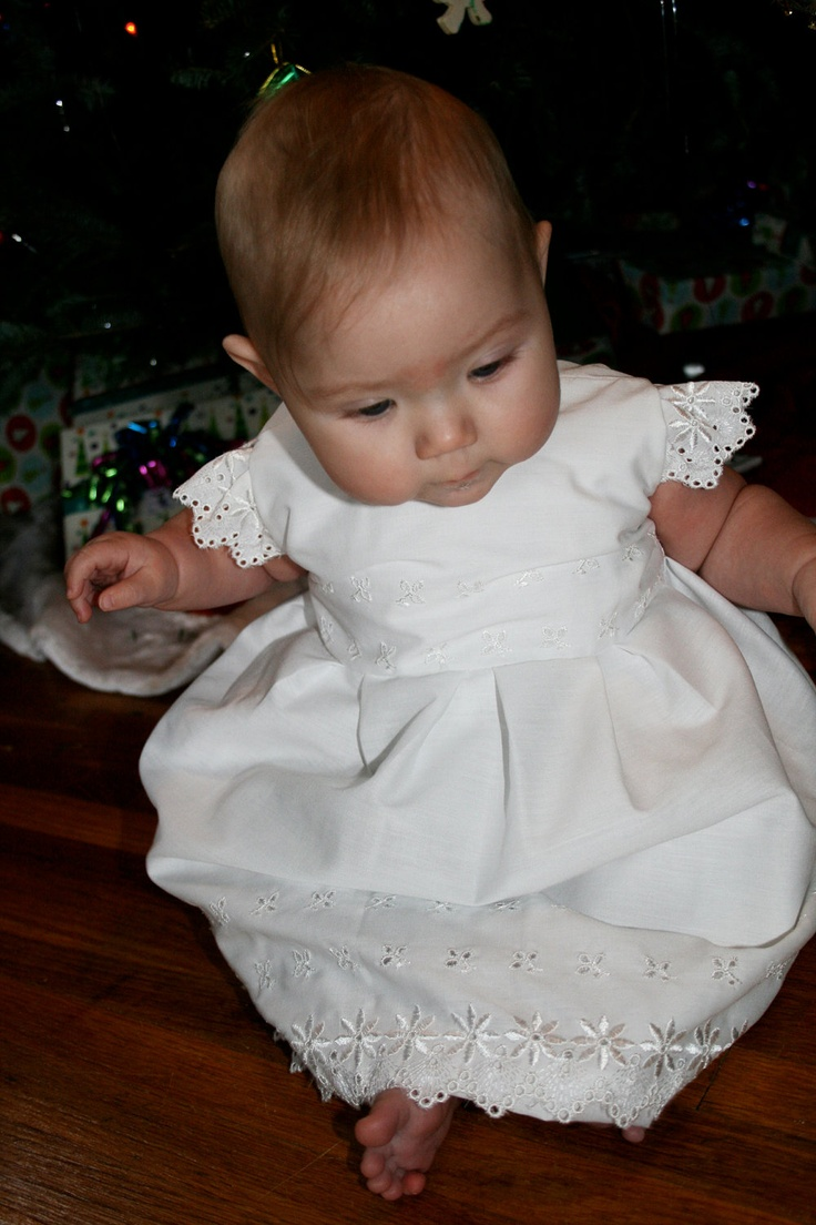 White eyelet apron - Baptism Dress Made With Vintage White Eyelet Fabric And Little Purse New Born To 3 Months