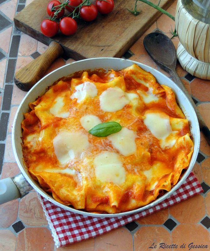ricetta lasagna in padella senza forno