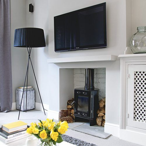 Living room fireplace | Modern home in south Manchester