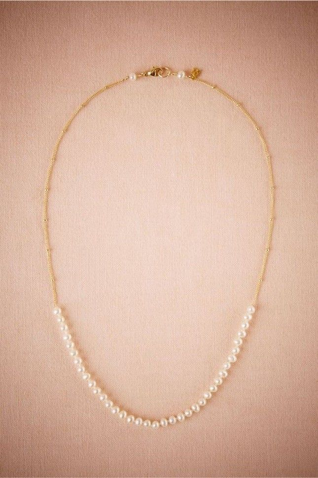 You're not the only one who deserves something new on your wedding day. Give your mom this delicate pearl necklace to show her how much she means to you.