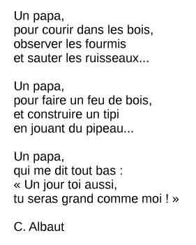 poème fête des pères