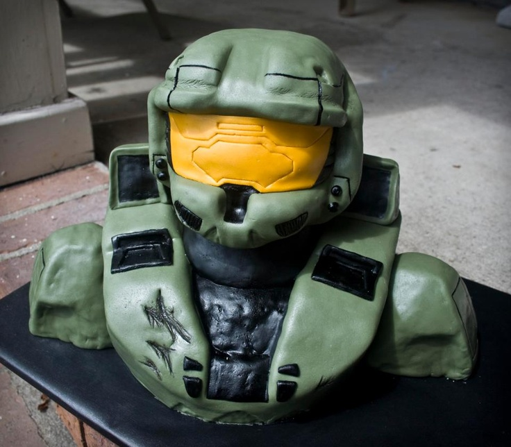 Misc 3D Cakes - Master Chief from Halo video game