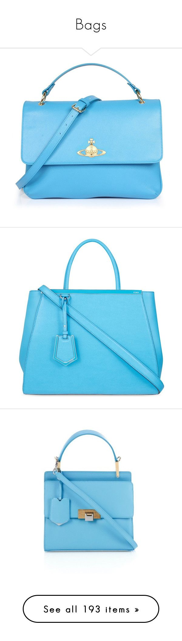 """""""Bags"""" by linn-way ❤ liked on Polyvore featuring bags, handbags, accessories, purses, blue handbags, vivienne westwood purse, vivienne westwood, hand-bag, light blue purse and tote bags"""
