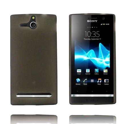 Soft Shell - Matta Pintainena Läpikuultava (Harmaa) Sony Xperia U Silikonisuojus