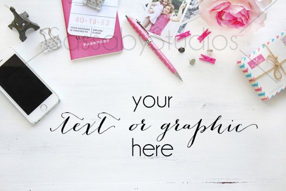 Pink Paris Desk Styled Stock Photography / by SassabyStudios