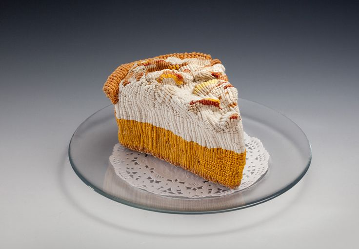 Knitted lemmon pie piece of cake