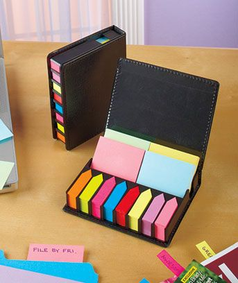 Stay organized with thousands of sticky notes in convenient cases.