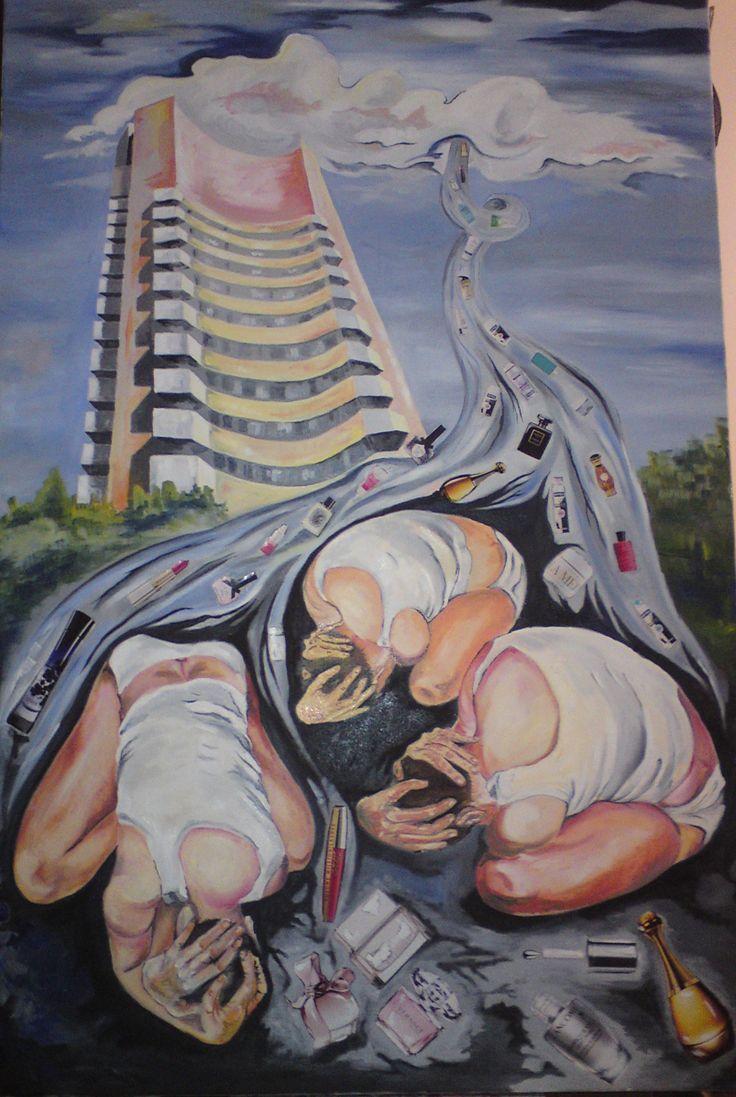Intercontinental.  Oil on canvas  120x80 cm