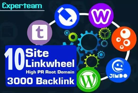 SEO linkwheel pyramid to website blog or youtube to rank on google for $12