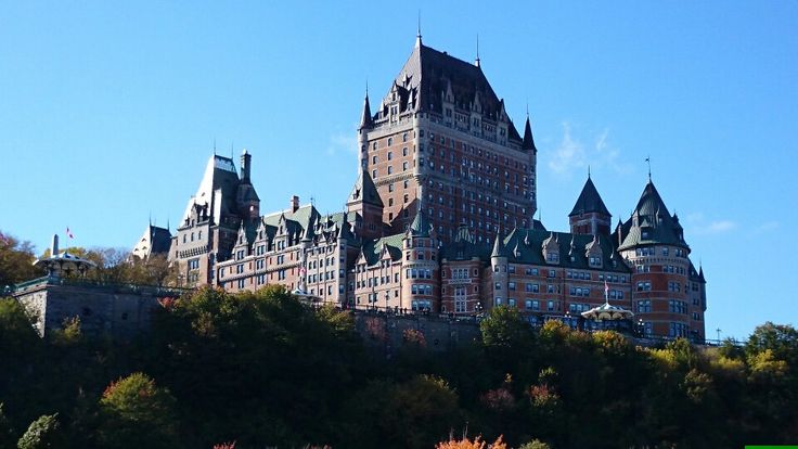Beautiful old hotel in Quebec city