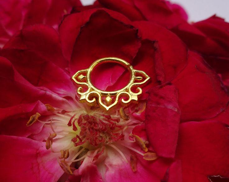 Fake Piercing,Real Septum Ring,Septum Jewelry,Septum Horseshoe,Clicker Septum22g #BodyJewelry