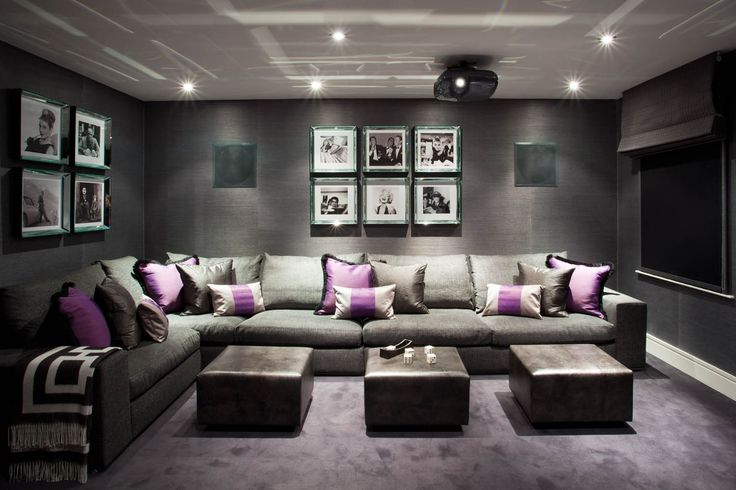 Lake District house - media room #cinema