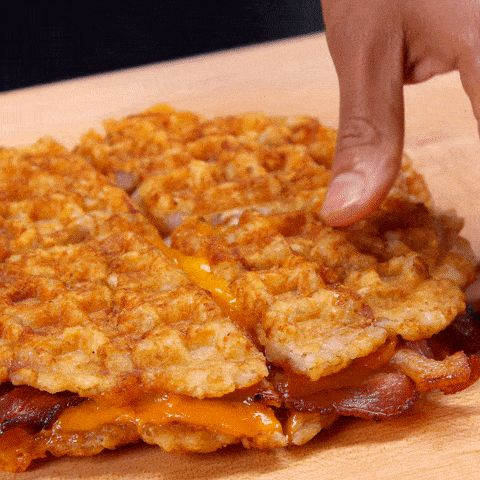 Tater Tot Grilled Cheese gif cheese pull