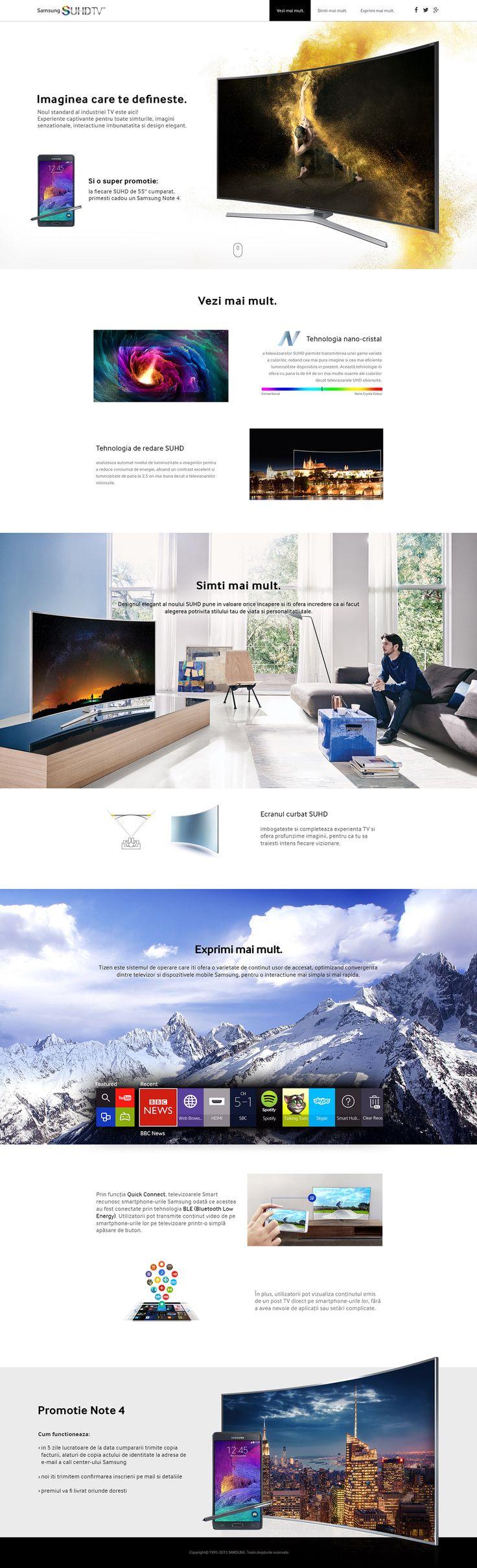 Samsung SUHD TV microsite on Behance