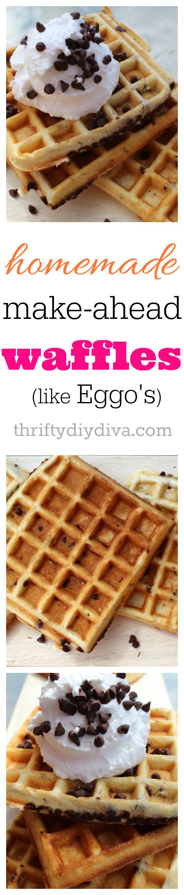 Make Ahead Freezer Waffles Like Eggo's - not a copycat recipe, but BETTER! Perfect for those busy mornings but you still want a delicious breakfast.