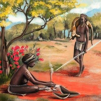 HOOK KIDS on READING - #DreamtimeMan a new PB about Australian aboriginals, by Margot Finke:  http://tinyurl.com/nkwdep3  -  See 3rd illustration + sample verse:   Ancient Land - Ancient Tribes - Ancient Ways.