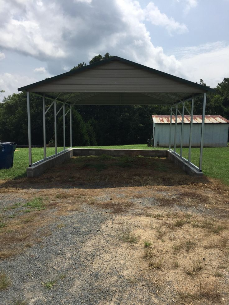 18x21 boxed eave style metal carport Alan's Factory