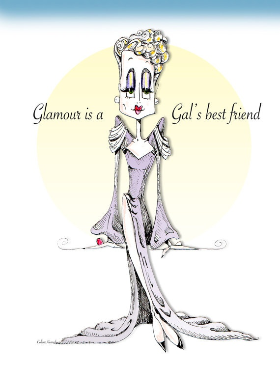 Glamour Girl Print because Glamour is your best by VanityGallery, $10.00