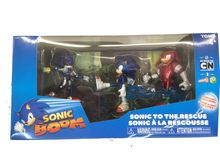"""Sonic Boom 3 Pack Figures """"""""Sonic To The Rescue"""""""" - Sonic, Knuckles, Metal Sonic"""