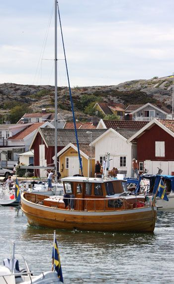 not a sail boat but love this old wooden boat. Grundsund, Bohuslän, Sweden