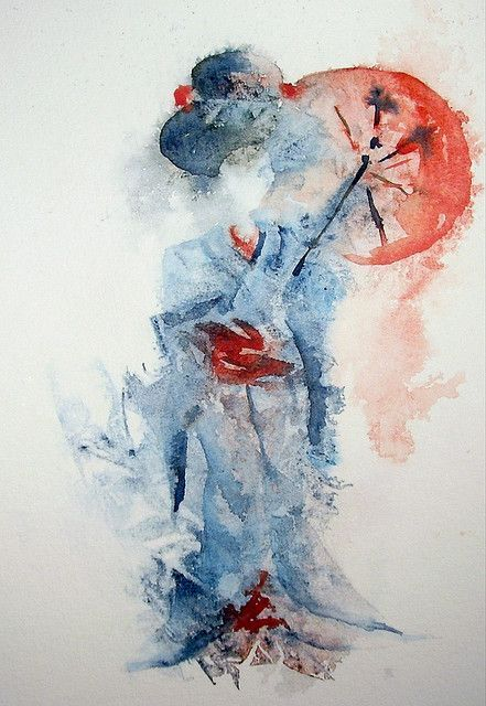 Extremely abstract and loose watercolour but still a striking ...