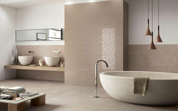 salle de bains et nuancier du marron