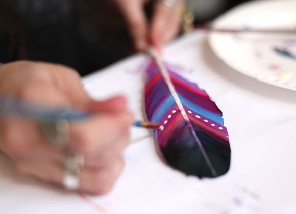 Peindre des plumes