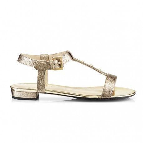 ZURBANO Mimi Gold Sandals
