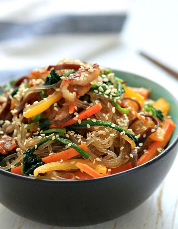 16 best korean noodle dishesodles images on pinterest japchae korean stir fried noodles forumfinder Images