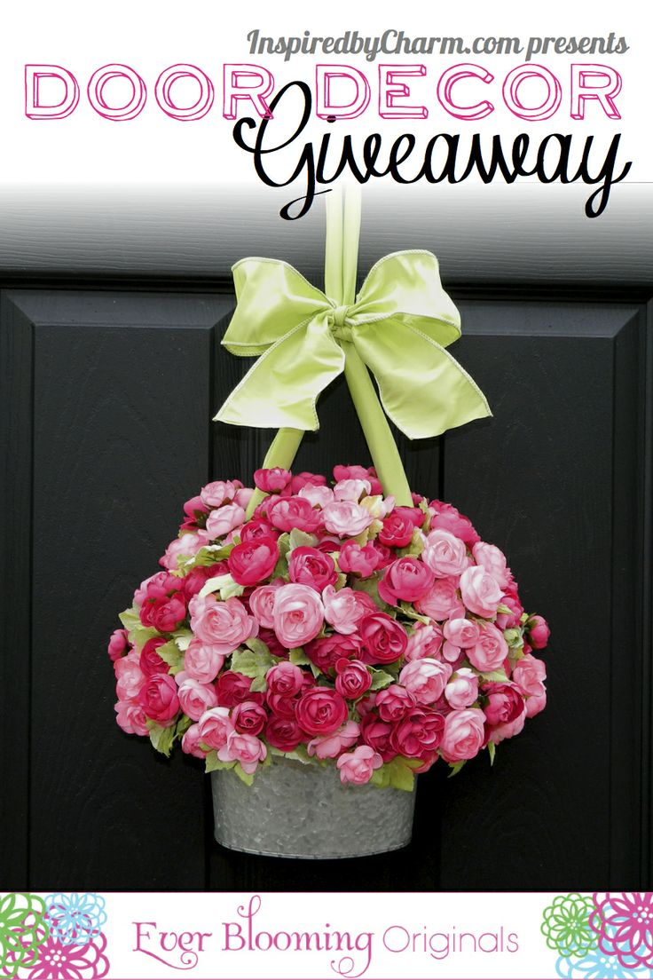 Enter to win a unique creation to hang on your door from Ever Blooming Originals via Inspired by Charm!!