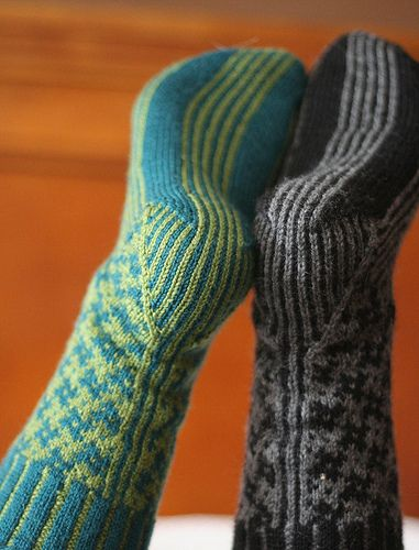 I LOVE the heels on these knitted socks