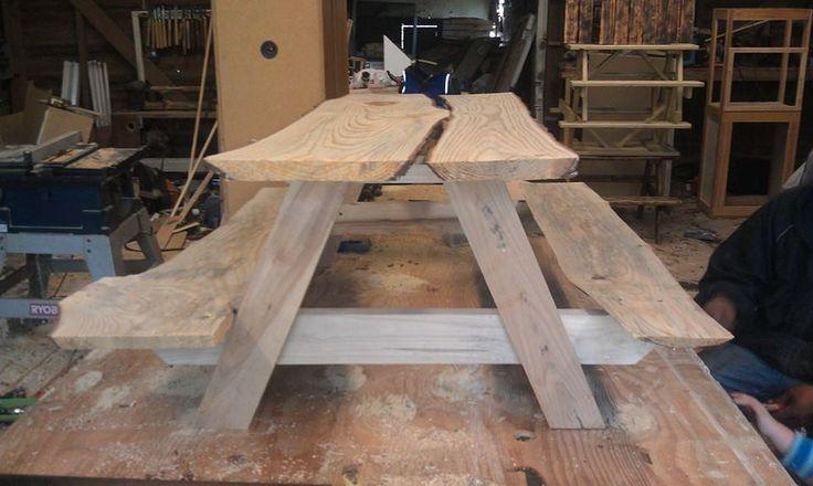 rustic live edge children's picnic table