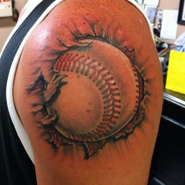Baseball tattoo designs and ideas (22)