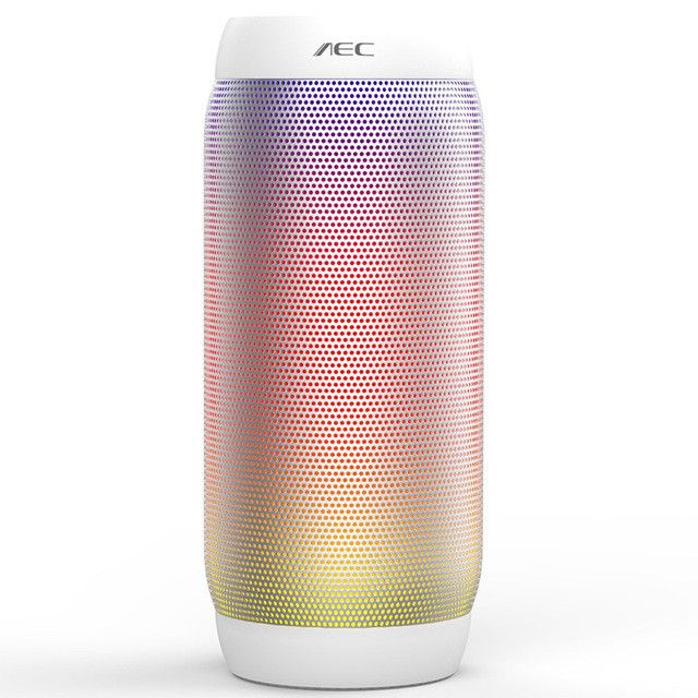 AEC Colored Waterproof LED light Portable Bluetooth Speaker Wireless Super Bass Mini Speaker with Flashing Lights