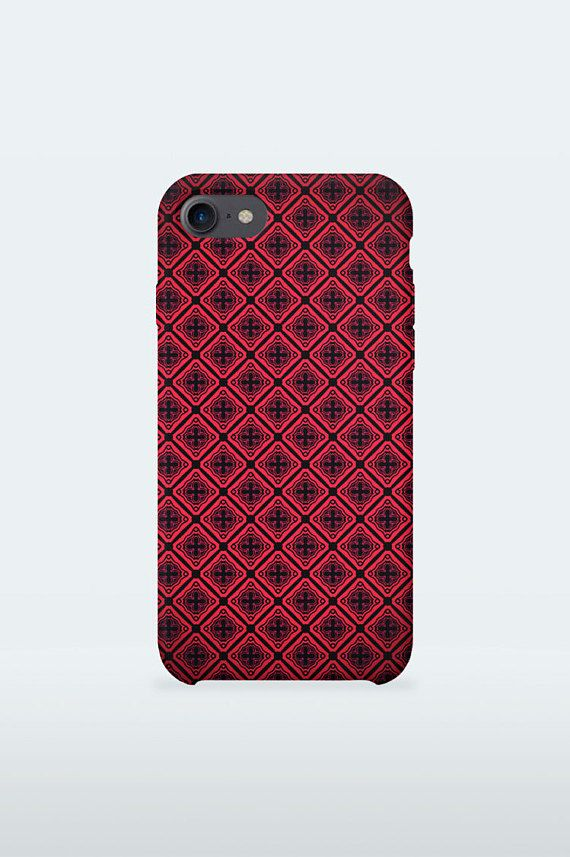 Luxury Burghundi Pattern Mobile Case Art red bamp design for iPhone Samsung 3-D Print full wrapped hard plastic back shell for smartphone  iPhone 4 / 4S iPhone 5 / 5S iPhone 5C iPhone SE iPhone 6 iPhone 6S iPhone 6 Plus iPhone 6S Plus iPhone 7 iPhone 7 Plus  Samsung Galaxy S5 / S5 mini