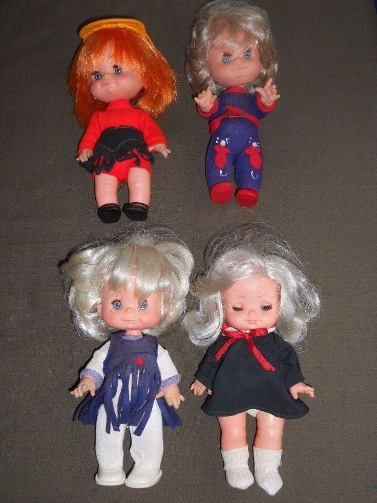 4 Bambole MIGLIORATI Made in Italy - anni 1960