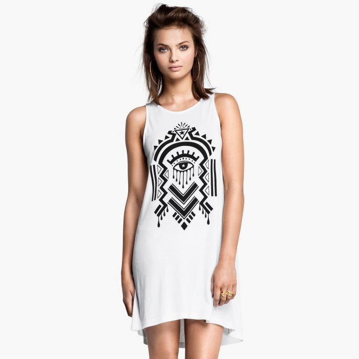 Aliexpress.com : Buy Maya pattern print bell bottom low high sleeveless  tank dress one