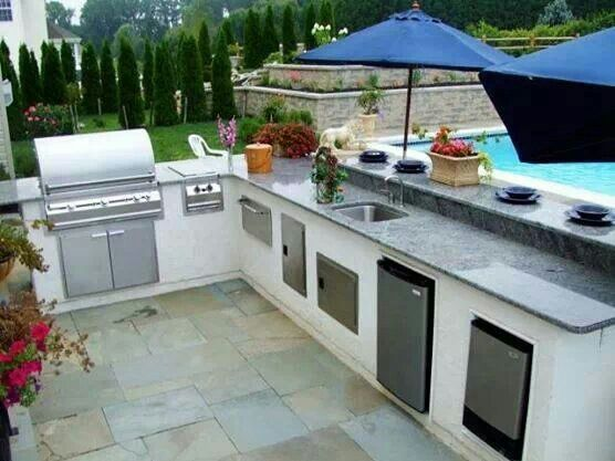 259 best images about outdoor kitchen design ideas on for Outdoor summer kitchen ideas
