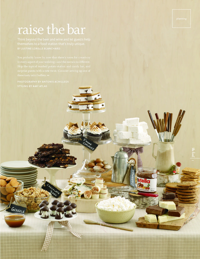 S'mores table #s'mores
