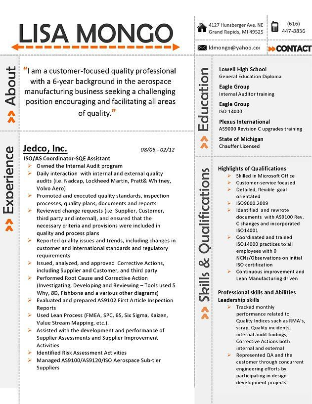 my resume design for a customer service position page 1 ill redo