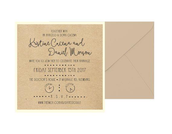 Rustic Square Wedding Shower Invitation by pulpandponder on Etsy #rusticwedding #kraftweddinginvitation #simplerusticweddinginvitation #squareweddinginvitation #customweddinginvitation