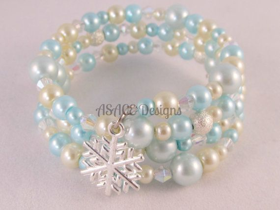 Frozen Inspired Childs Elsa Memory Wire Bracelet by ASACEDesigns, £6.50