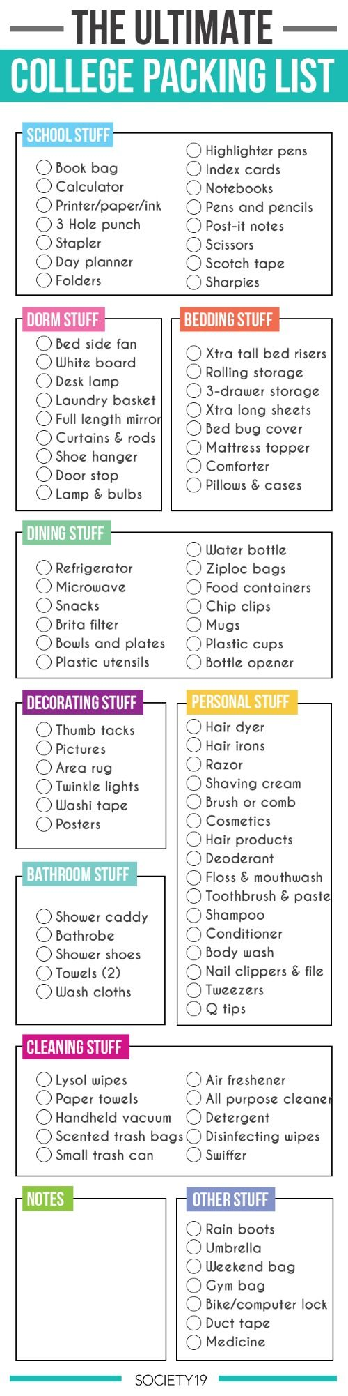 Dorm Room Hacks and Tips - No idea what to pack? Take a look at this Dorm Room Packing List... great for all college students. More College Tips on Frugal Coupon Living.