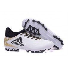 Adidas X 16.3 AG Fotbollsskor för män Vit Svart Guld