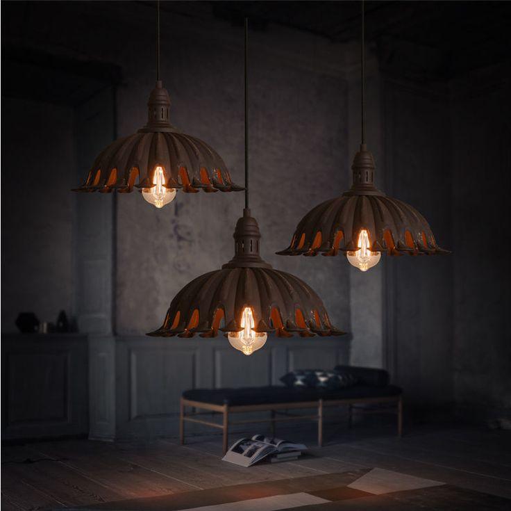 Vintage Style RH Pendant Antique Rust Ceiling Lamp Hanging Light Chandelier Hot #Unbranded #RusticPrimitive